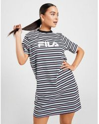 Fila Stripe Logo T-shirt Dress - Black