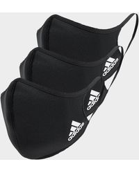 adidas Badge Of Sport Face Coverings 3-pack - Black