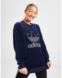 adidas Adicolour Velvet Crew Sweatshirt - Blue
