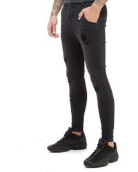 SIKSILK - Washed Ripped Jean - Lyst