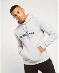 Quiksilver Overhead Stripe Hoodie - Gray