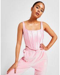adidas Originals 3-stripes Satin Corset - Pink