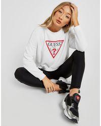 Guess Icon Crew Sweatshirt - White