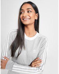 adidas Originals 3-stripes Long Sleeve California T-shirt - Gray