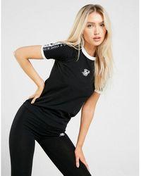 SIKSILK Tape Boyfriend T-shirt - Black