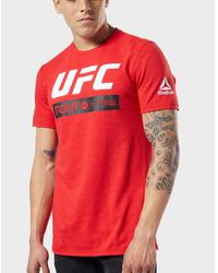 Reebok Synthetic Ufc Fan Triblend T shirt in Black for Men