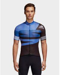adidas Originals Adistar Graphic Cycling Jersey - Blue