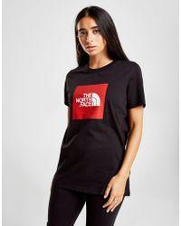 The North Face - Box Logo Boyfriend T-shirt - Lyst