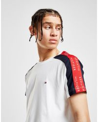 Tommy Hilfiger - Contrast Tape Short Sleeve T-shirt - Lyst