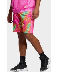 adidas Donovan Mitchell Shorts - Pink