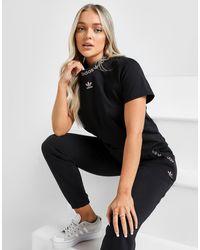 adidas Originals Lurex Tape T-shirt - Black