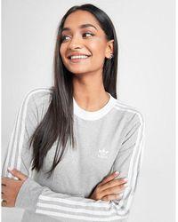 adidas Originals 3-stripes Long Sleeve California T-shirt - Grey