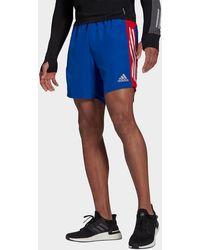 adidas Own The Run 3-stripes Shorts - Blue