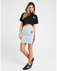 SIKSILK - Tape Logo Skirt - Lyst