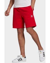 adidas Originals Trefoil Essentials Shorts - Red