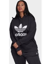 adidas Originals Trefoil Hoodie (plus Size) - Black