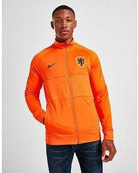 Nike Niederlande Herren-Fußballjacke - Orange
