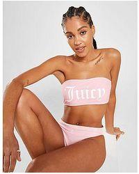 Juicy Couture - Sujetador de bikini Logo Bandeau - Lyst