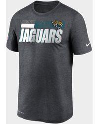 Nike Nfl Jacksonville Jaguars Sideline T-shirt - Grey