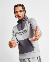 aff9415c Ellesse Cantino 1/4 Zip Hoodie in Gray for Men - Lyst
