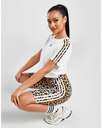 adidas Originals Leopard Luxe Cycle Shorts - Multicolour