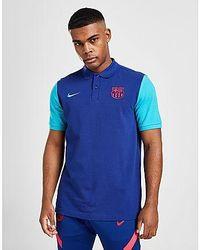 Nike FC Barcelona Herren-Polo - Blau