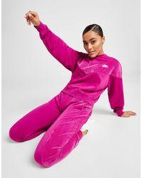 Nike Heritage Velour Crew Sweatshirt - Pink