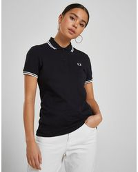Fred Perry Tipped Polo Shirt - Black