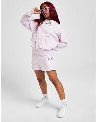 Nike Swoosh Woven Cargo Shorts - Purple