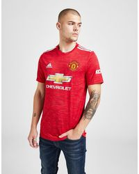 adidas Manchester United Fc 2020/21 Home Shirt - Red