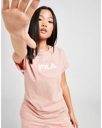 Fila Embossed Logo Boyfriend T-shirt - Pink