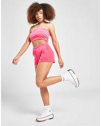 Juicy Couture Diamante Velour Shorts - Pink