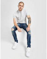 Brave Soul Skinny Distressed Faded Jeans - Blu