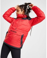 Columbia Padded 1/4 Zip Jacket - Red