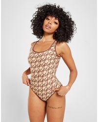 Guess All Over Print Swimsuit - Natural