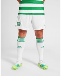 adidas Celtic Fc 2020/21 Home Shorts - White