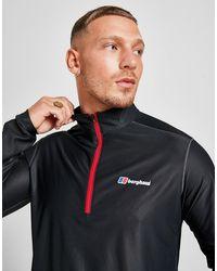 Berghaus Long Sleeve Poly 1/2 Zip Top - Black