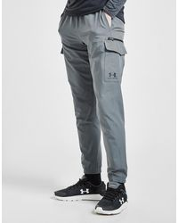 Under Armour Woven Zip Cargo Track Trousers - Grey