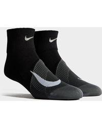 Nike - Running Elite Lightweight Quarter Socks - Lyst