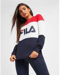 Fila Color Block Long Sleeve Boyfriend T-shirt - Multicolor