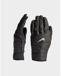 Nike Quilted Running Gloves - Black