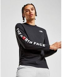 The North Face Long Sleeve Logo T-shirt - Black
