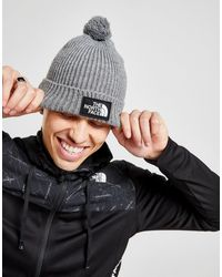 The North Face Tnf Box Pom Beanie Hat - Gray