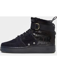 Lyst - Nike Sf Air Force 1 Leather High-top Trainers in Black for Men a9286c43c