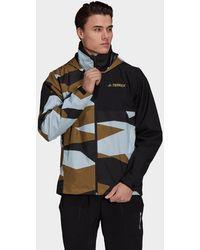 adidas Terrex Multi Rain.rdy Primegreen Allover Print 2-layer Rain Jacket - Multicolor