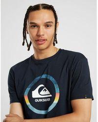 Quiksilver Circle Print T-shirt - Blue