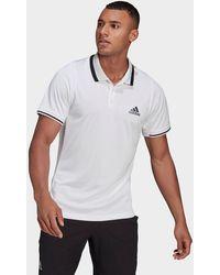 adidas Tennis Freelift Polo Shirt - White