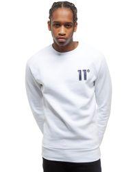 11 Degrees Crew Neck Sweatshirt - White
