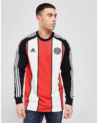 adidas River Plate Icons Long Sleeve T-shirt - Red