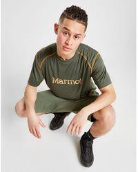 Marmot Large Logo Poly T-shirt - Green